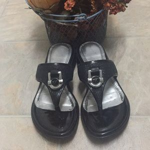 Marc Fisher Patent Sandals 5.5 pre owned